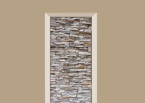 Deursticker stenen muur