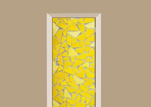 Deursticker mozaiek geel