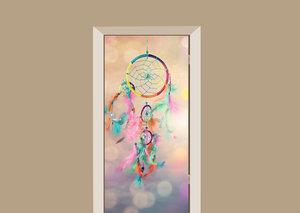 Deursticker dromenvanger multicolor