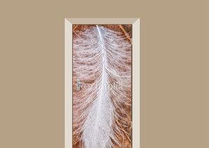 Deursticker witte veer