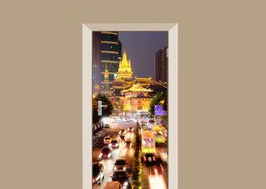 Deursticker Jing'an tempel