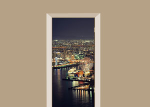 Deursticker Osaka nacht