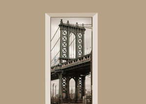 Deursticker New York Manhattan brug
