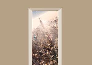 Deursticker skyline New York City kleur