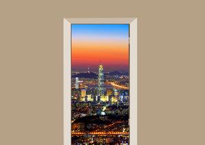 Deursticker skyline Zuid-Korea