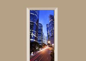 Deursticker skyline Brisbane city