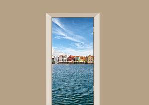 Deursticker Willemstad Curacao