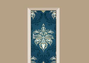 Deursticker barok donkerblauw