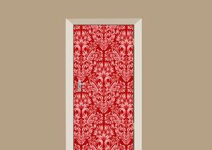 Deursticker barok rood