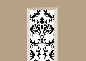 Deursticker barok zwart-wit