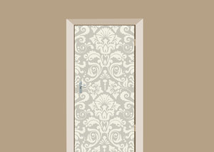 Deursticker barok wit grijs