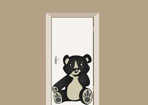 Deursticker babykamer beer 70x88 cm