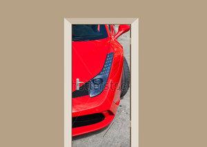 Deursticker auto Ferrari 458 rood