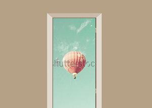 Deursticker gekleurde luchtballon
