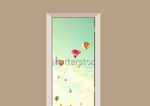 Deursticker gekleurde luchtballonnen