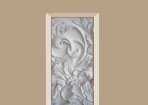 Deursticker barok luxury wit