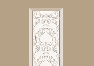 Deursticker barok vintage wit