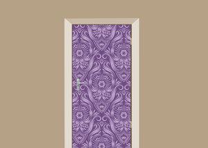Deursticker barok paars