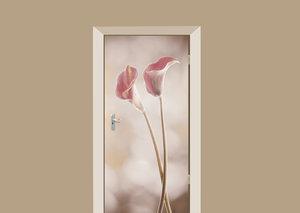 Deursticker calla roze