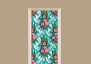 Deursticker bloemen Hawaii