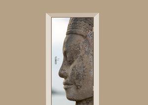 Deursticker Boeddha close up