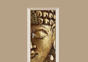 Deursticker Boeddha goud