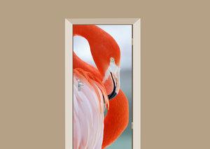 Deursticker flamingo