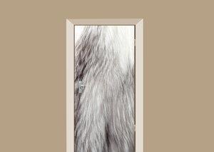 Deursticker vossenvacht grijs