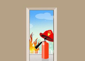 Deursticker brandweer
