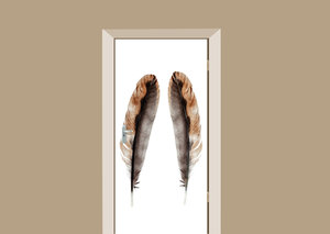 Deursticker vogel veren