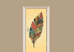 Deursticker bohemian veer multicolor