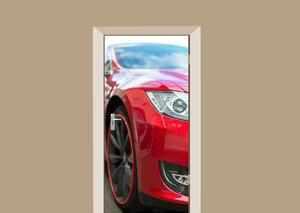 Deursticker auto rood