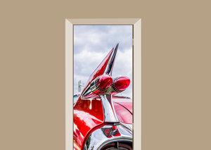 Deursticker auto vleugel rood