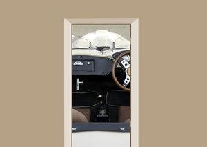 Deursticker auto cabriolet