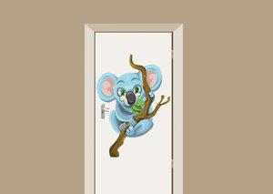 Deursticker babykamer koala 70x97 cm