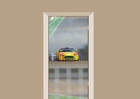 Deursticker auto Aston Martin V8