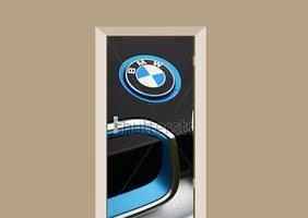 Deursticker auto BMW logo