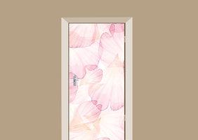 Deursticker bloemblaadjes roze