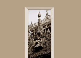 Deursticker Boeddha gebouw