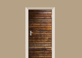 Deursticker antieke planken