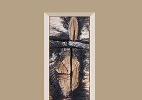 Deursticker boomstammen