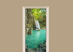 Deursticker Erawan waterval