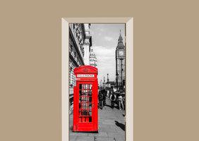 Deursticker Londen telefooncel