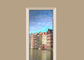 Deursticker grachten Amsterdam
