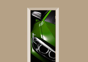 Deursticker auto groen