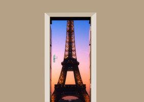 Deursticker Eiffeltoren donker
