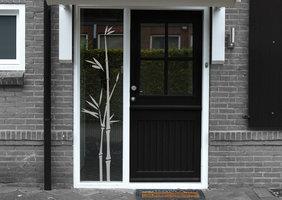 Voordeursticker bamboe 37