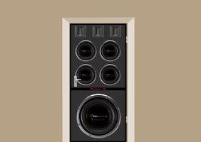 Deursticker luidsprekerbox