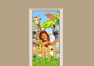 Deursticker dierentuin