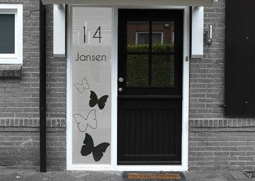 Voordeur sticker met namen en huisnummer 40.3